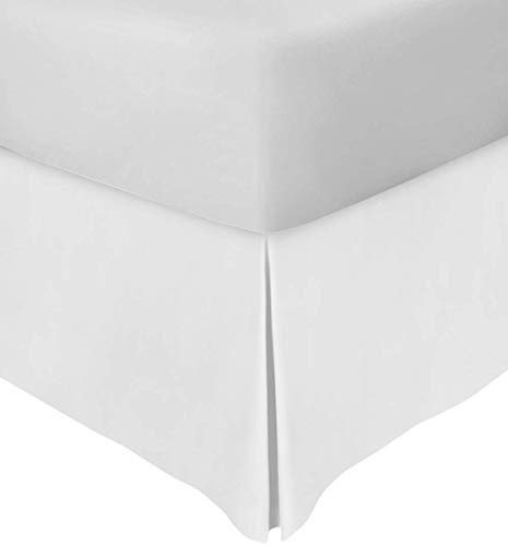 Dishika Home Bettrock, Queen-Size-Größe, 40,6 cm, Geteilte Ecke, 100% ägyptische Baumwolle, knitterfrei, zugeschnitten, Fadenzahl 650, Weiß, Queen 60 x 80 Größe King 76x80 - Drop 16 Inch White Solid (White Queen-size-betten)