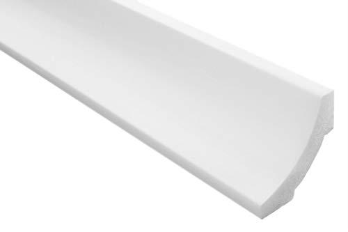 100 Meter   Styropor Stuckleisten   Decke   stabil   weiß   Zierprofil   leicht   dekorativ   XPS   50x50mm   E-12
