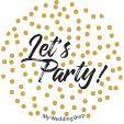 Miss Lovely Silvester-Servietten Happy New Year in schwarz & Gold mit Sternen - 33x 33cm - Silvester-Deko/Tisch-Dekoration Silvester/Neujahr/Silvester-Party Tisch-Dekoration 40 Servietten - 2