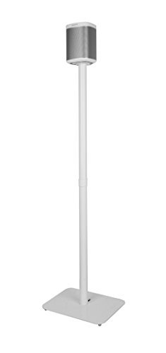 Allcam FSP1B Sonos Play1 floor stand for Sonos Player One speaker w/heavy-duty weighted base in White