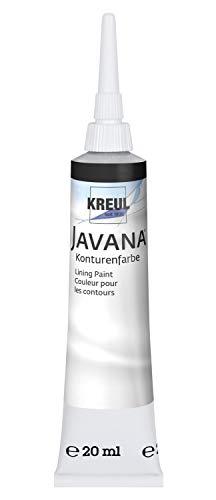 Kreul 815120 - Javana Konturenfarbe 20 ml Tube, schwarz
