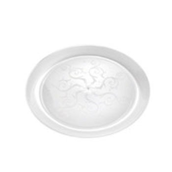 Hard Clear plastic Disposable Party Plates (6