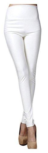 lotus-instyle-pais-taille-haute-faux-cuir-jambires-femmes-pantalon-en-cuir-white-s
