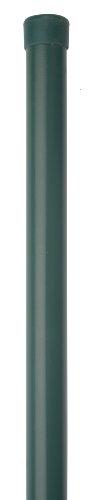 *GAH-Alberts 617721 Zaunpfosten für Fix-Clip pro, ungebohrt, für die Befestigung mit Einschlag-Bodenhülsen, zinkphosphatiert, grün, Ø34 / 965 mm*