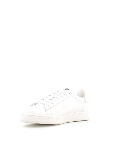 EA7 New Classic Leather Trainers Blanc Cassé - Bianco