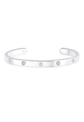Elli Premium Damen-Armreifen 925_Sterling_Silber zirkonia 0210250517_16 - 16cm Länge