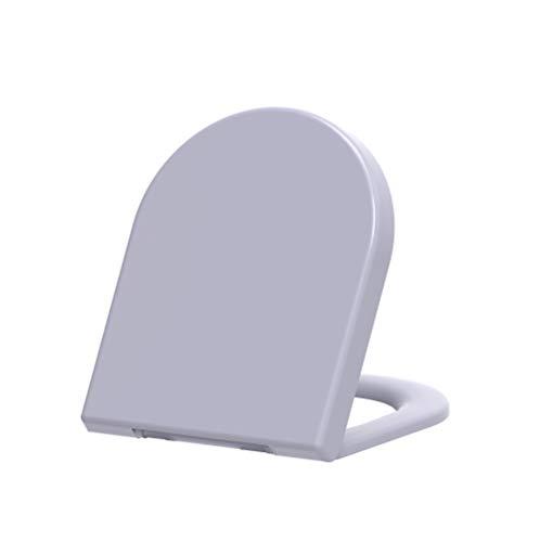 Grünblatt Premium Duroplast WC Sitz 515213 D-Form Absenkautomatik, abnehmbar zur Reinigung, passend zu meinsten D-Form WC Schüssel, e.g. Keramag icon, 4U etc. Manhattan Grau