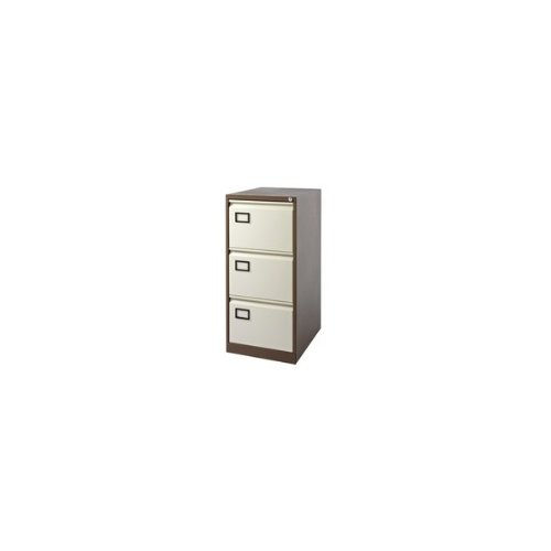 Jemini 3-Drawer Filing Cabinet Coffee/Cream