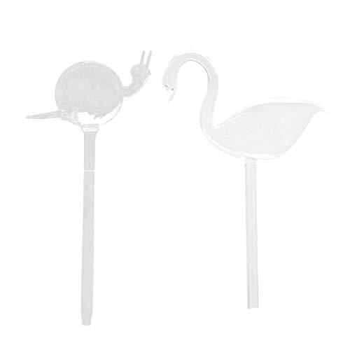 Sharplace Escargot De Verre Automatique Et Cygne en Forme De Dispositif D'arrosage Simple Plante pour Fleur