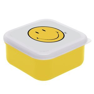 SMILEY Lunchbox, M, gelb/weiss