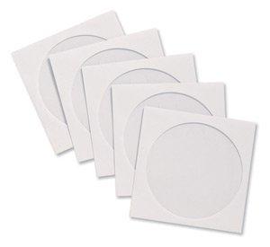 Compucessory 442439 Lot de 50 pochettes en papier pour CD Enveloppes à fenêtres Blanc 126 (Compucessory Busta Bianca)