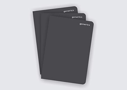 Black Journal Notebook,Soft Cover 160 Pages Single line, 3-in-1 Pack (A5 21x14.8 cms)