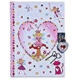 Lucy Locket - Diario Infantil con diseño de «Encantado de Hadas» - Diario con candado y Llaves