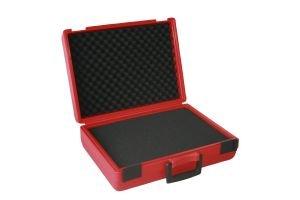 Preisvergleich Produktbild Fotokoffer Multifunktionskoffer mit vorgestanzter Rasterschaumstoffeinlage - Typ Rally II in rot