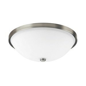 Capital Lighting 2323AN-SW Covington 2-Light Flush Mount, Antique Nickel Finish with Soft White Glass by Capital Lighting (Nickel Flush-mount-beleuchtung)