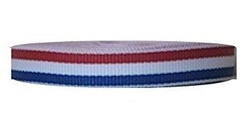 White Stripe Grosgrain (Zipperstop Grosgrain Stripe 3/8 Inch 50 Yards Red, White, Blue)