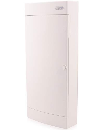 Sicherungskasten Aufputz IP40 Verteiler Gehäuse 4-reihig bis 48 Module Weißer Tür für die Trockenraum Installation im Haus