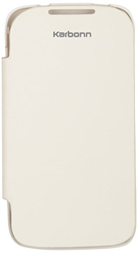 iCandy™ Synthetic Leather Flip Cover For Karbonn A7+ - WHITE  available at amazon for Rs.190