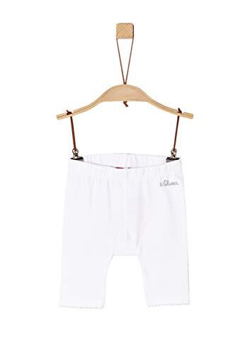 s.Oliver Baby-Mädchen 65.904.75.2769 Leggings, Weiß (White 0100), Herstellergröße: 80