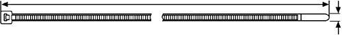 Preisvergleich Produktbild HellermannTyton Kabelbinder T150L-W-BK 8,8x813 schwarz Kabelbinder 4031026106694