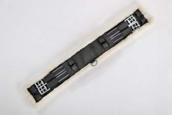 USG Nylon Kurzgurt mit Kunstfell Polster, schwarz/beige, 60 cm