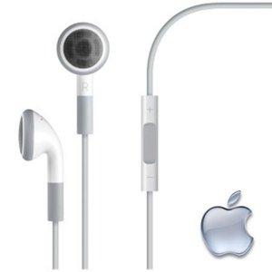 Apple 0000433886 Original In-Ear Kopfhörer mit Fernbedienung und Mikrofon für iPhone 4/4S/3G/3GS/iPad 1/2/3/iPod Classic Nano weiß