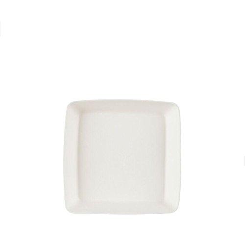 Natural Tableware NT-005 H Bagasse Teller, Quadrat Mittel Tablett (50-er Pack) - Nt Natural