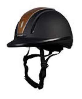 PFIFF Casque d'équitation ï30014ï Noir/Marron Clair 56-59cm