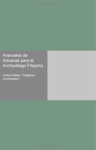 Aranceles de Aduanas para el Archipiélago Filippino