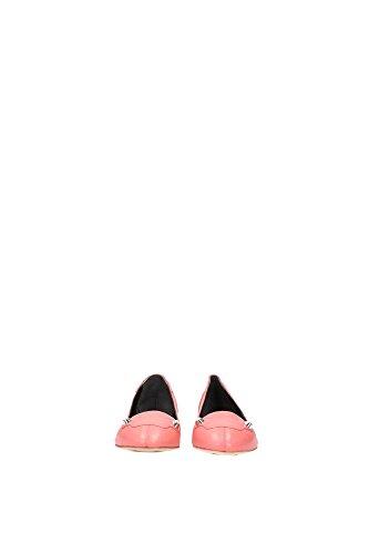 357821WAD404230 Balenciaga Ballerine Femme Cuir Bleu Rose