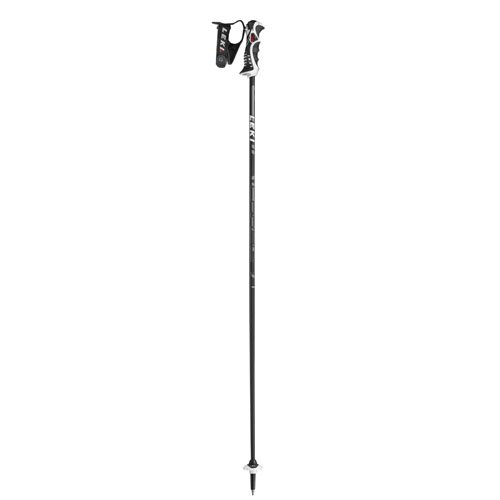 LEKI Herren Skistöcke Carbon 14 S, Black, Anthracite-White-Red, 120 cm, 6376790