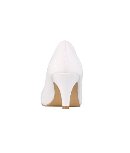 Scarpe Col Tacco Krisp® Da Donna Con Tacco Bianco (5791)