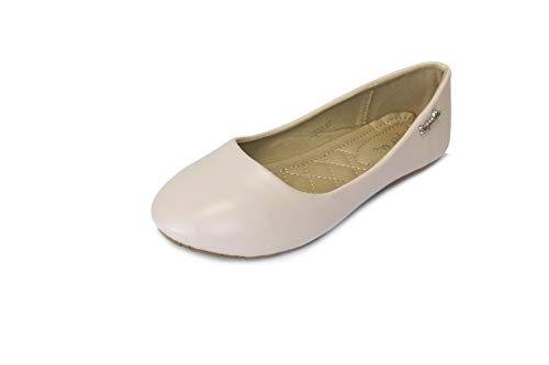 Frentree Klassische Damen Ballerinas Schuhe, Farbe:pink, Größe:42 (Damen-komfort-slipper)
