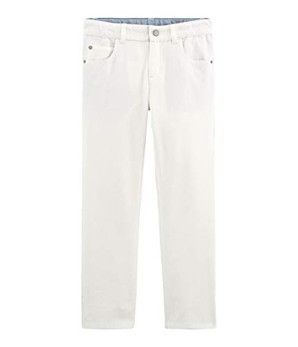 Petite Hose (Petit Bateau Jungen Pantalon_4719901 Hose, Weiß (Marshmallow 01), 128)