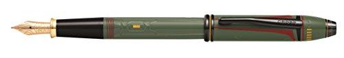 Cross Townsend Füllfederhalter Star Wars Boba Fett (M-Feder, Swarovski -Kristall in der Kappe) oliv-grün