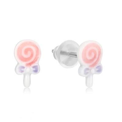 GUOHUANEUP Ohrringe Hochwertige Einfache Süße Und Niedliche Tiermuster Einzigartiges Design Charme Original Keramik Ohrringe Weibliche Femme Temperament Koreanische Süße Süße Lutscher Mädc