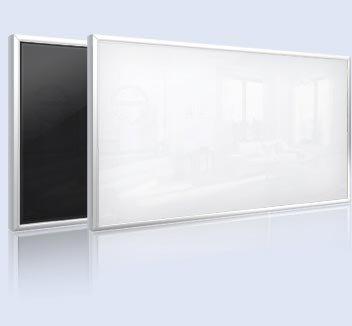 infranomic frame-line 250W Glas-Infrarotheizung, weiß mit 10mm-Alurahmen, 90 x 35 cm von infranomic - Heizstrahler Onlineshop