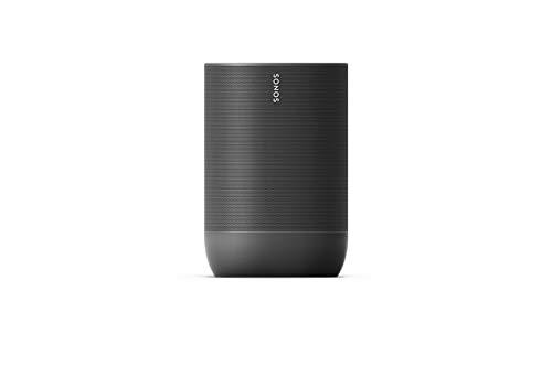 Sonos Move lo smart speaker da outdoor, alimentato a batteria per l'ascolto della musica dentro e fuori casa, nero
