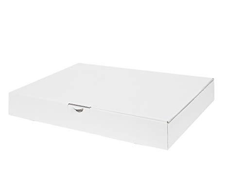 50 Maxibriefkartons 350 x 250 x 50 mm weiß   Versandkarton DIN A4   geeignet für Warensendung mit DHL   wählbar 25-2000 Kartons