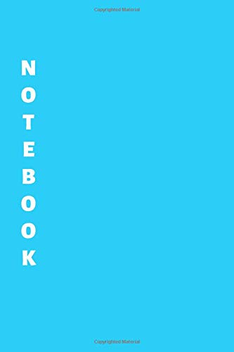 Notebook: Blue Lined Notebook & Journal for Writing (110 pages, Lined, 6 x 9 inches, Matte, Colorful Cover) || Classic Notebooks (Evernote Journal Moleskine)