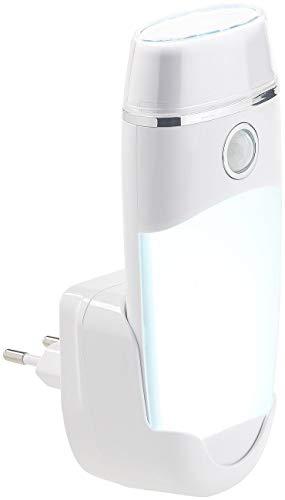 Lunartec Steckdosenlampe: 4in1-Multifunktions-Leuchte & Nachtlicht mit Akku & Induktions-Ladung (Taschenlampe Induktion)