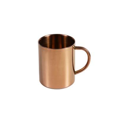 Winpavo Becher Kaffeetassen Tassen Edelstahl Gold Becher Kaffee Milch Tasse Handbecher Kupfer...