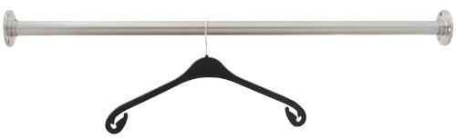 Edelstahl Garderobenstange Kleiderstange 33,7 mm aus V2A - Länge: 150 cm