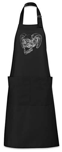 Urban Backwoods Horned Skull Grillschürze Kochschürze - Dämon-schädel-tattoo