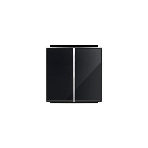 Niessen sky - Tecla doble interruptor conmutador cristal negro