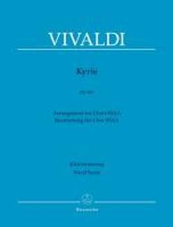 Kyrie RV 587: Bearbeitung für Frauenchor SSAA. Klavierauszug von Malcolm Bruno. klangschöne Bearbeitungen für Frauenchor; mit zweisprachigen Vorworten (dt./engl.); gut spielbarer Klavierauszug
