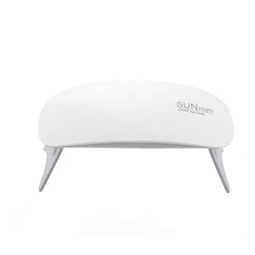 Ovonni Nageltrockner, Mini 6 W, UV-LED-Lampe, für Gelnägel, Mini-Nagellack, semi-permanent, Maniküregerät, Nagellampe mit 2 Synchronisierungseinstellungen (45/60 Jahre) (Weiß) -