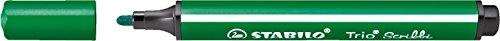 STABILO Trio Scribbi Einzelstift grün - gefederter Dreikant- Fasermaler