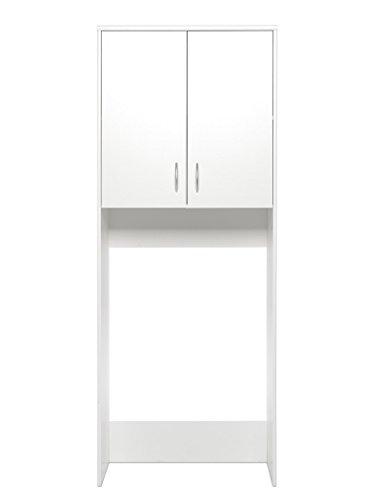 #expendio Waschmaschinenschrank Koblenz 42 weiß 68x188x35 cm Überbauschrank Badschrank Schrank#