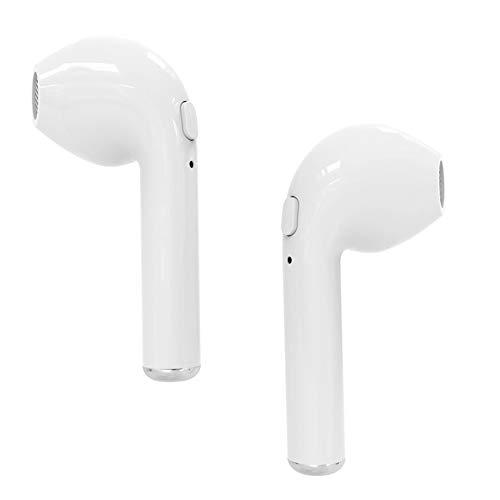 Bluetooth Kopfhörer, Wireless Headset Sport Kopfhörer Kopfhörer Stereo Kopfhörer mit Handy-Ladegerät für IOS Android Smartphone- Weiß